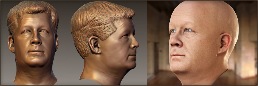Head - Digital Sculpting, Texturing, Look Dev