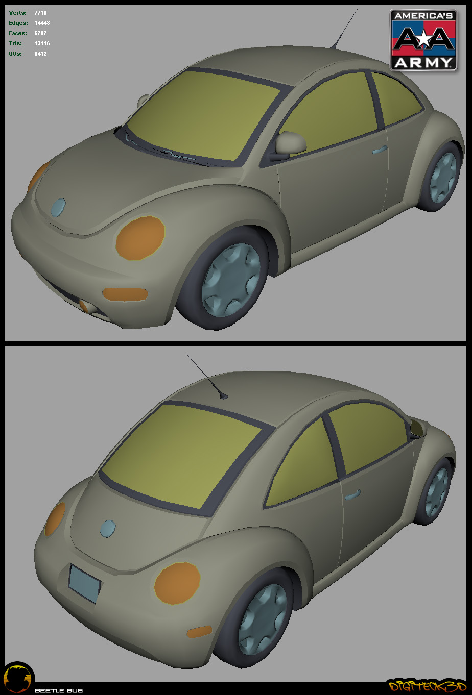 Beetle | Maya Shaded