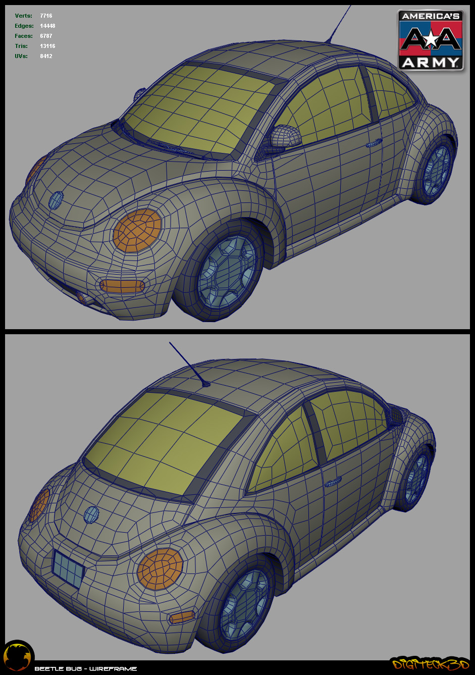 Beetle | Wireframe
