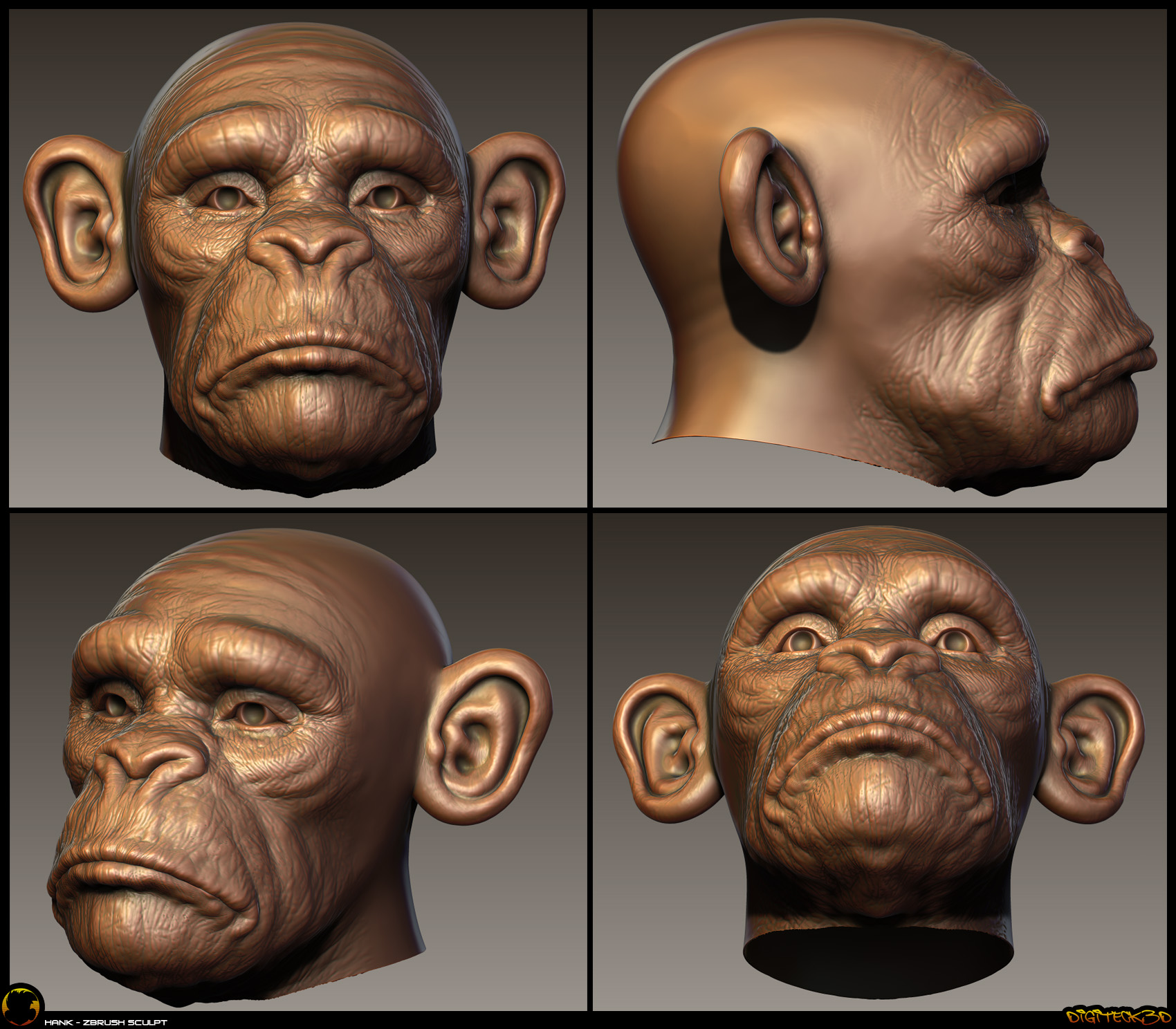 Monkey | Zbrush Bust